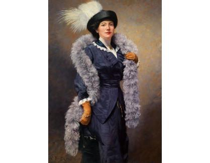 Krásné obrazy II-356 Ludwig Deutsch - Elegantní dáma