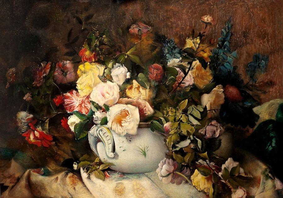 Krásné obrazy VI-100 Neznámý autor - Zátiší s květinami
