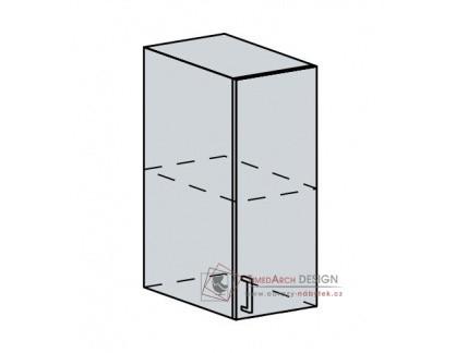 PROVENCE, horní skříňka 1-dveřová 30H, bílá / vanilka