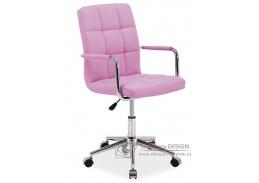 Kancelářská židle Q-022 ekokůže růžová