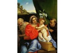 SO IV-17 Lorenzo Lotto - Madonna se svatým Jeronýmem a Antonínem z Padovy