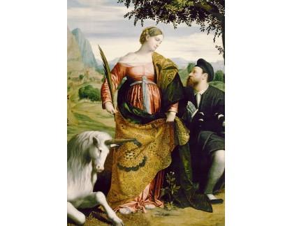 Krásné obrazy II-434 Moretto da Brescia - Svatá Justina