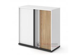 VENIDI 08, komoda 2-dveřová, bílá / světle šedá / grafit / salisbury