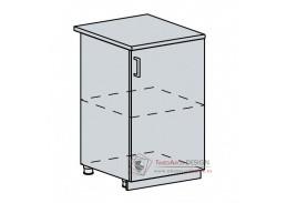 GREECE, dolní skříňka 1-dveřová 50D, bílá / granátový lesk
