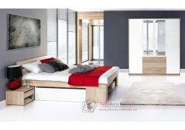MILO 02, ložnicová sestava nábytku, dub sonoma / bílá