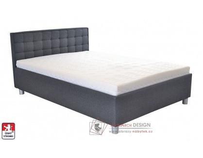 BOBBY, postel 140x200cm, volně ložená matrace
