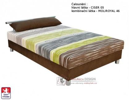 EDITH, postel 140x200cm, pevně načalouněná matrace