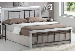 BERLIN, kovová postel 160x200cm, černá / bílá
