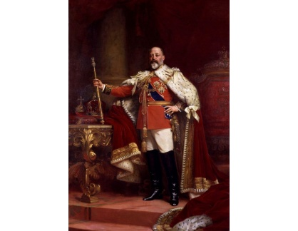 VANG108 Samuel Luke Fildes - Portrét krále Edwarda VII