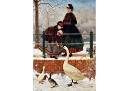 Slavné obrazy VII-100 George Dunlop Leslie - Zimní procházka