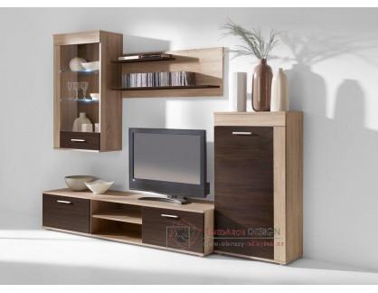 VITO, obývací stěna, dub sonoma / wenge