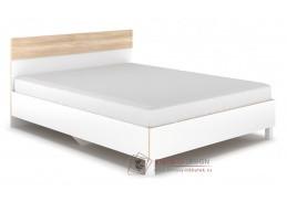 PATRICIA, postel 160x200cm, bílá / dub sonoma