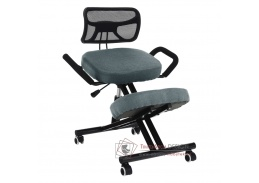 RUFUS, klekačka ergonomicka, černá / látka šedá