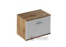 CYRIL 06, skříňka, dub wotan / bílá