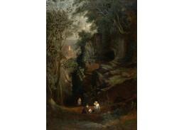 Slavné obrazy XVII-85 Francis Danby - Krajina u Clifton