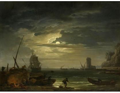 KO III-68 Claude-Joseph Vernet - Středomořský přístav v měsíčním světle