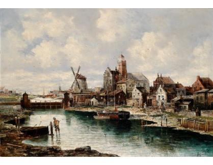 Slavné obrazy III-DDSO-482 August von Siegen - Motiv z Holandska
