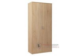 VIKA, šatní skříň 2D 85cm, dub sonoma