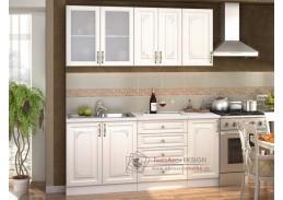 VICTORIE, kuchyně 180cm,  bílá / bílý santál