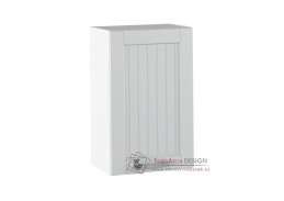 JULIA 05, horní skříňka 1-dveřová, bílá / světle šedá