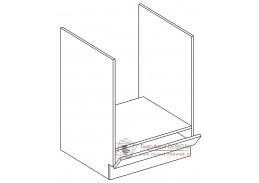 Dolní skříňka na vestavnou troubu DK60 PAULA šedá / bílý mat
