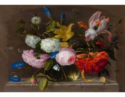 Slavné obrazy IX DDSO-724 Jacob van Walscapelle - Květinové zátiší