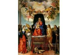SO IV-20 Lorenzo Lotto - Madonna na trůnu s anděly a světci