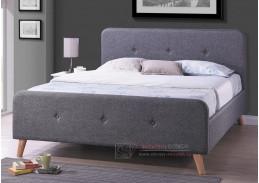 Čalouněná postel 160x200cm MALMO látka šedá