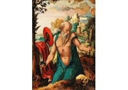D-9213 Pieter Coecke van Aelst - Kajícný svatý Jeroným v krajině