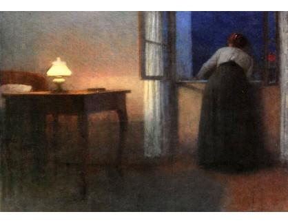 Jakub Schikaneder - Večerní interiér