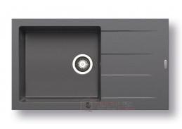ATHLOS 1B 1D PLUS, pyragranitový dřez 86x50cm, iron grey