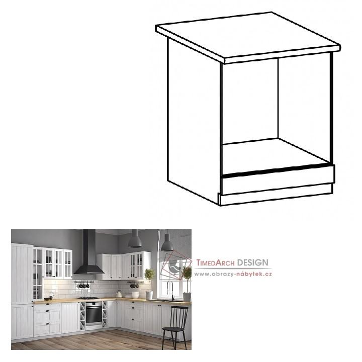 Dolní skříňka na vestavné spotřebiče D60ZK PROVANCE bílá
