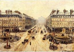 VCP-107 Camille Pissarro - Avenue de l Opera, sněžení
