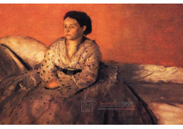 R6-15 Edgar Degas - Portrét paní Rene de Gas