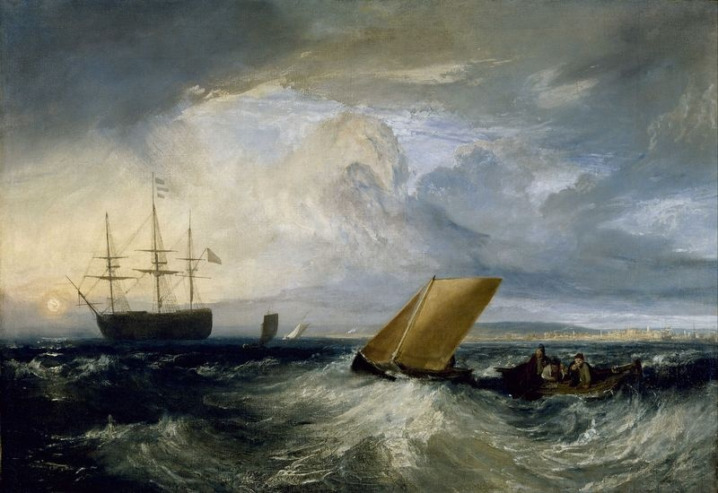 Joseph Mallord William Turner - Sheerness při pohledu s Nore