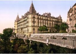 Fotochrom VF 95 Grand Hotel Gassion v Pau, Francie