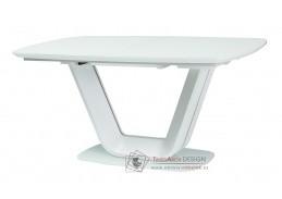 ARMANI, jídelní stůl rozkládací 140x90, bílá