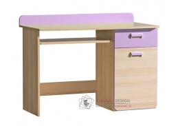 LIMO L10, pracovní stůl, jasan coimbra / fialová