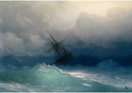 VR-359 Ivan Konstantinovič Aivazovsky - Loď na bouřlivém moři