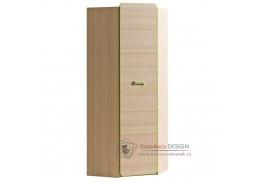 EGO L14, rohová skříň věšáková, jasan / zelená
