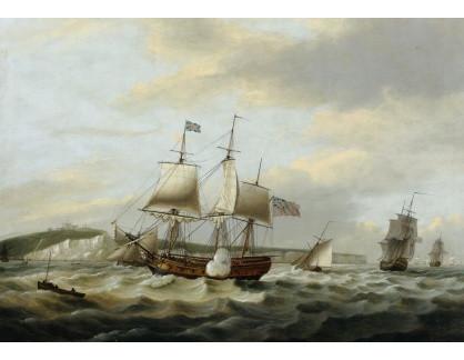 VL362 Thomas Luny - Obchodní loď u útesu Doveru