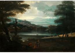 Slavné obrazy X-485 Giovanni Francesco Grimaldi - Pastorální krajina