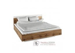 GABRIELA, postel 180x200cm, dub wotan / bílá