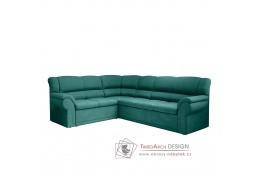 AMELIA, sedací souprava rozkládací - levá, látka smaragdová