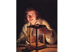 Ferdinand Georg Waldmüller - Chlapec s lucernou, 90x60cm