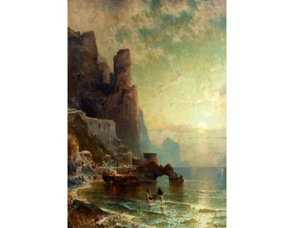 Slavné obrazy I-DDSO-128 Franz Richard Unterberger - Rocca Di Amalfi