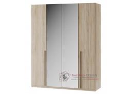 KARO 01, šatní skříň 180cm, dub sonoma