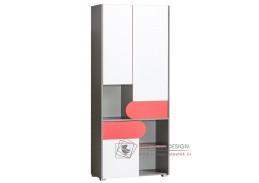 FUTURO F02, šatní skříň s regálem, výběr barvy