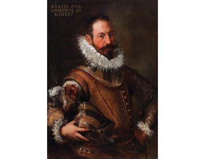 Slavné obrazy I-DDSO-300 Neznámý autor - Portrét muže v obřadním brnění