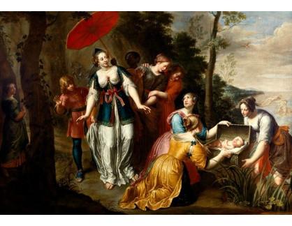 Slavné obrazy IX DDSO-722 Jacob van Loo - Nalezení Mojžíše